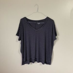 MUDD Navy and White Stripped Flowy Top
